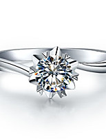 925 1CT Snowflake Twist Setting Solitaire Engagement Ring SONA Diamond Female Ring Sterling Silver Jewelry Pt950 Stamped