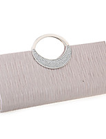 Women-Formal / Event/Party / Wedding-Satin-Clutch-White / Blue / Red / Black / Almond