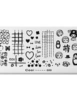 bluezoo retângulo arte impressão prego stamping (c-020)