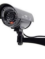 KingNEO 1pc Outdoor Dummy Camera Simulated Security Surveillance camera black