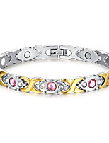 Women's Jewelry Health Care Silver & Gold Stainless Steel Magnetic Bracelet