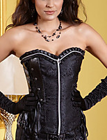 Corsé Inferior / Corsé Superior / Vestido con Corsé / Conjunto de Corsé / Talla Grande Para Mujer-Cremallera-Nailon / Poliéster