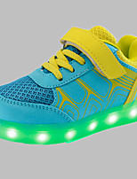 Boys' Shoes Wedding / Outdoor / Casual Suede Fashion Sneakers Yellow / Pink / Orange  LED  shoes