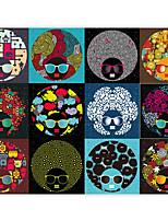 effet cuir shinny grand fond d'écran mural coloré personnage de dessin animé avatar mur papier décor de mur d'art