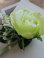 Ramillete de Muñeca(Verde,Poliéster / Satén) -Rosas