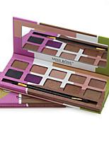 10 Palette di ombretti Luccicante Gamma di colori dell'ombretto Polvere pressata Normale