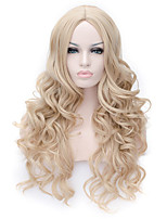 Capless Long Curly Blonde Color Top Quality Synthetic Wig