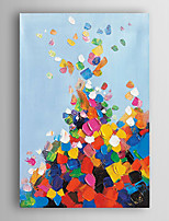 Hand Painted Oil Painting Abstract Colourful lump with Stretched Frame 7 Wall Arts®