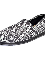 Men's Shoes Outdoor / Office & Career / Casual Canvas / Cotton / Fabric Loafers Black / Taupe