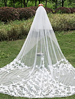 Wedding Veil Two-tier Cathedral Veils Cut Edge