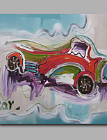 Oil Painting Modern Abstract Car Hand Painted Canvas with Stretched Frame