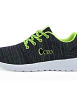 Men's Shoes Casual Tulle Fashion Sneakers Green / Fuchsia / Orange