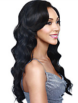 Fashion Natural Golden Waves of High Quality Black Color Synthetic Hair