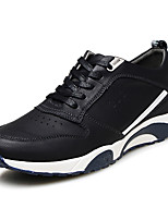 Men's Shoes Office & Career / Athletic / Casual Leather Fashion Sneakers Black / Blue