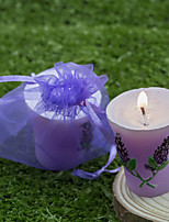 Velas(Lilás,Cerâmica / Resina / Vidro / Aço Inoxidável / Cristal / Liga de Zinco) -Tema Praia / Tema Jardim / Tema Asiático / Tema Floral
