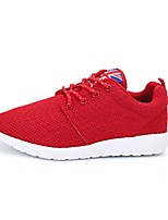 Men's Shoes Casual Tulle Fashion Sneakers Red / Black and White
