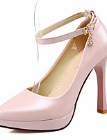 Women's Shoes Fleece Stiletto Heel Heels / Platform/Comfort/Pointed Toe Heels Office & Career/ Casual Blue/Pink/Beige