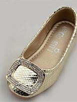 Girl's Summer Comfort / Round Toe Microfibre Outdoor Flat Heel Silver / Gold
