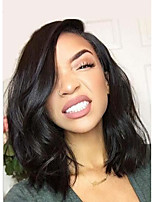 Malaysia Human Hair Wigs Lace Front Wigs Short Bobo Hair Wigs Natural Color Lace  Wigs