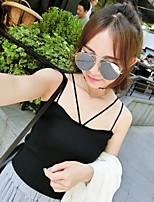 Women's Solid White / Black Vest,Street chic Sleeveless