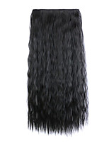 Black Length 60CM Synthetic Europe and The United States a Chip Five Hot Style Clip(Color 2)