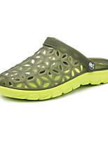 Men's Shoes PU Casual Slippers Casual Flat Heel Black / Yellow / Green / Gray