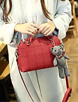 Women-Casual-PU-Shoulder Bag-Red / Gray / Black