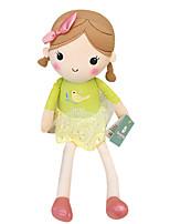 Genuine Spring Girl Doll Plush Toy Doll Baby Doll To Appease Doll Girl Gift Bird Beige Skirt Sitting Height 25Cm