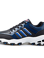 Women's Shoes PU Flat Heel Comfort Fashion Sneakers Casual Blue / Green / Black and White / Fuchsia