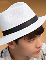 Unisex Summer Sun Wide-brimmed Straw Foldable Beach Holiday Hat