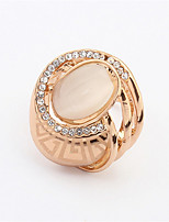 2015 New Fashion Wedding Engagement Brand Jewelry Hollow Out Pattern Diamond Rose Gold Ring For Women