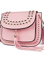 Women-Casual-PU-Shoulder Bag-White / Pink / Gray / Black