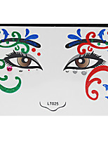 Abstract Pat Nightclubs Party Red Face Sticker LT-025