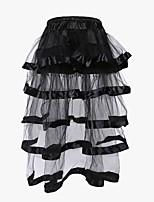 Feminino Plus Size / Sem Busto / Com Busto / Vestido com Corset Não Especificado Renda / Nylon / Poliéster Feminino