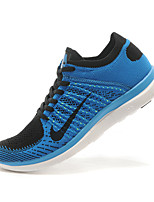 Nike Free Flyknit 4.0 Men's Sneaker RunningShoes Fabric Blue / Brown / Black and White