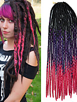 20inch Kanekalon Senegalese Braids Soft Dread Lock Synthetic Braiding Hair Ombre Black Violet Pink with Crochet Hook