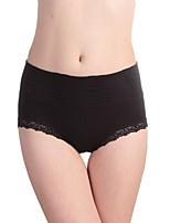 Women's Seamless modal lace waist tummy hip briefs