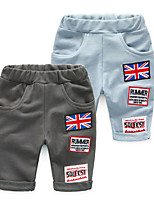 Children Boy 100% Cotton Harem Pants Casual Flag Pattern Trousers Bottoms