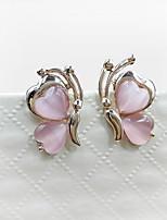 Sweet Style Butterfly Inlaid Opal Lady Earrings