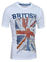 Brand Men T Shirt Cotton Clothing Male Slim Fit Man British Flag T-Shirts Skateboard Clothing