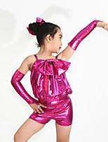 Jazz Outfits Kinderen Prestatie elastan Strik(Ken) 5-delig Zwart / Blauw / Fuchsia / Goud / Paars Jazz Mouwloos NatuurlijkMouwen /