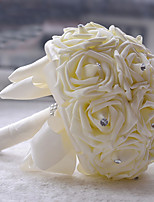 Bouquets(Multicolore,Polyester / Satin / Organza / Perle / Strass)Roses