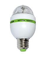E27 3W LED Stage lamp RGB Globe Bulbs AC 85-265V Rotating Disco Party Bulb