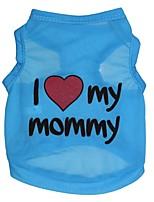 honden T-shirt / Kleding / Kleding Blauw / Roze Zomer / Lente/Herfst Flora / Botanisch Modieus-Pething®