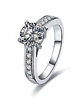 4prongs c de marque de qualité 1ct sona bague en diamant pour les femmes en argent sterling 925 en platine plaqué micro de luxe ouvert