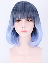 Bule Black Mixed Color Afro Women Cosplay Synthetic Wigs Glueless Fashion Wigs