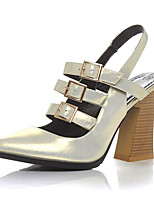 Women's Shoes Sheepskin Chunky Heel Heels / Gladiator / Pointed Toe Heels Office & Career / Party & Evening / Dress