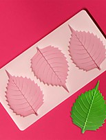 3 Hole Round Leaf Shape Chocolate Plugin Mold for Cake Decoration Baking Mold Silicone Material