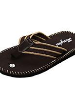 Sapatos Masculinos-Sandálias-Preto / Marrom / Verde-Lona-Casual