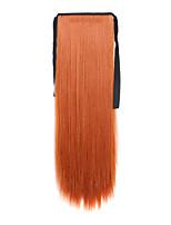 Light Borwn Length 60CM Synthetic Bind Type Long Straight Hair Wig Horsetail(Color 119)
